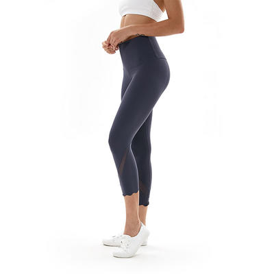 3/4 high waist womens mesh insert tights