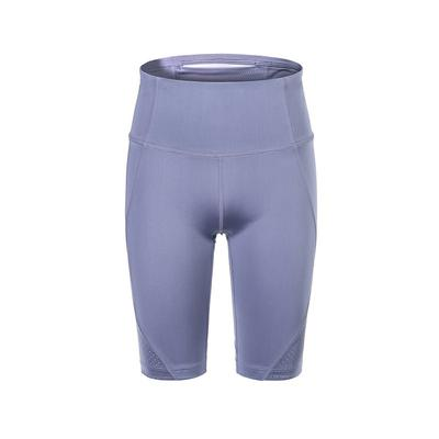 Womens Shining Fabric Perforated Bike Shorts