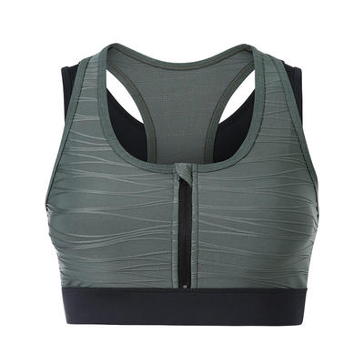 Two in One Women Zip Front High Impact Sports Bra