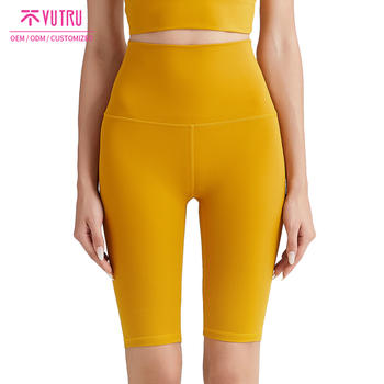 Double-sided grooming stretch slimming running five-point pants women mesh yoga shorts